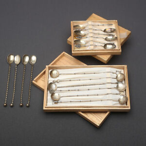 CHINESE EXPORT SILVER SPOONS
