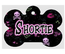 SKULL & CROSSBONES PET ID TAG Personalized Any Name Dog Tag Printed on 2 Sides