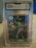 1987 Topps Mark McGwire Gma 7 Nm #366 Oakland Athletics