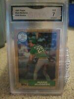 1987 Topps Mark McGwire Gma 7 Nm #366 Oakland Athletics