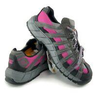 CAT Caterpillar Women Switch ST Steel Toe Gray Pink Work Boots Shoes Slip P90299