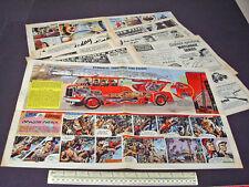 Merryweather Hydraulic Turntable Fire Escape Centre Spread 1959 Vintage Eagle