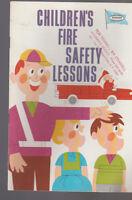 Kemper Insurance 1967 Booklet Children's Fire Safety Lessons