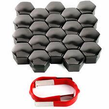 20 x 21mm Black Wheel Plastic Nut Bolt Covers Caps Tool fit FOR BMW E46 E60 E61