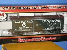 HO Atlas: Clicquot Club Wood(#1491)  36 ft Refrigerator car New in box , C-10 sc