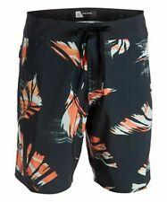 New Volcom Black Fentler Hawaiian Boardshorts Swim Short Trunks Men's Size 30