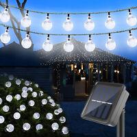 Solar Powered 30 LED String Light Outdoor Garden Path Yard Waterproof Decor Lamp