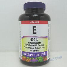 Webber Naturals Vitamin E 400 IU Antioxidant support 300 Softgels 维他命 E 抗氧化