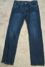 # Mens Jeans size 33 x 34 Levis stretch 505 regular straight blue denim male