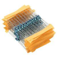 300pcs1W 0.1-750 Metal Film Resistor 30-Value Assortment USA Shipping
