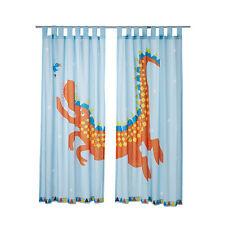 IKEA HELTOKIG - Pair of Curtains 2 Panels Window Treatment Children Light Blue