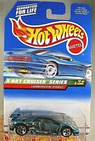 1999 Hot Wheels #946 X-Ray Cruiser 2/4 LAMBORGHINI DIABLO Drk Green wChrome 5Sp