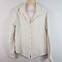 ANTHROPOLOGIE | Womens Flannel Print Blouse Top NEW [ Size L or AU 14 / US 10 ]
