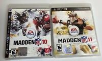LOT OF 2 Madden NFL 10 & NFL 11  PS3 COMPLETE CIB Very Clean Discs