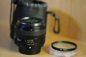 YONGNUO YN50mm F1.8 Auto Focus Full-Frame Lens for Nikon Camera + LENS FILTER!$