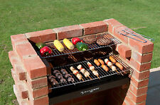 BARBECUE in mattoni kit bkb401 Black Knight Heavy Duty con ACCIAIO INOX CUCINA GRILL