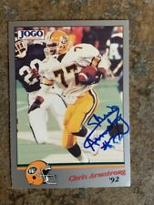 signed in person   CHRIS ARMSTRONG  CFL  EDMONTON ESKIMOS   JOGO # 86  1992