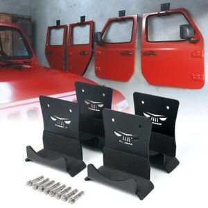 Xprite Wall Mount Door Storage Hanger Holder for Jeep Wrangler CJ TJ LJ JK JL JT