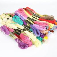 Multicolor 8 Pcs Similar Thread Cross Stitch Embroidery Sewing Thread New