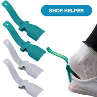 US 2Pcs Wear Shoe Horn Lifting Helper Lazy Handled Shoe Horn Easy on&Off Shoes