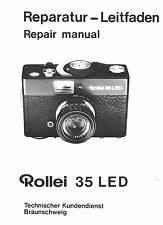 ROLLEI Repair Manual 35 LED film camera SERVICE MANUAL EXPLODED VIEW PARTS on CD
