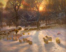 Farquharson Joseph The Shortening Winters Day Is  Close Canvas 16 x 20   #3264