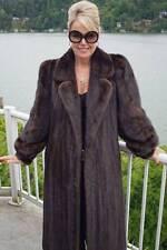 Mahogany MINK Coat FUR LONG BROWN Jacket M L #881A WOW!