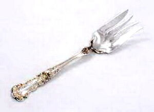 "Vintage Gorham & Co Buttercup Sterling Silver.925 Cold Meat Fork 8 1/4"" No Mono"