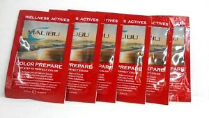 MALIBU Wellness Actives COLOR PREPARE 1st Step To Perfect Color~( Lot of 6 Pkts)