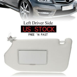 SCITOO Tan Beige Left Driver Side Interior Sun Visor fit for Nissan Pathfinder 2013-2019 Infiniti QX60 2014-2017 Infiniti JX35 2013 with Sunroof OE:96401-9PB0A