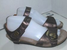 Taos Momentum Pewter Wedge Sandals Ankle Strap Womens Size 39