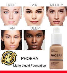 Matte Liquid Foundation Full Coverage Concealer Makeup Matte Brighten Base Cream
