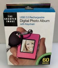 """The Sharper Image 1.4"""" Digital Photo Album with Keychain USB 2.0 Rechargeable"""