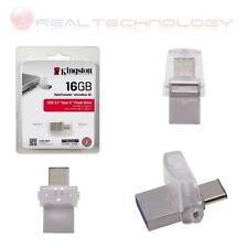 DATA TRAVELER MICRODUO 3C USB 3.0/3.1 TYPE-A E TYPA-C KINGSTON DTDUO3C/16GB