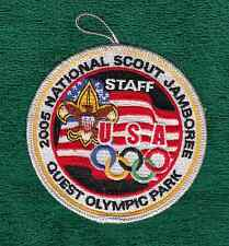 C727 OA BSA Scouts 2005 NATIONAL JAMBOREE QUEST OLYMPIC PARK STAFF SILVER BORDER
