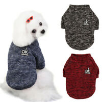 Soft Knitted Dog Clothes Winter Warm Small Dog Sweater Cute Puppy&Cat Clothes