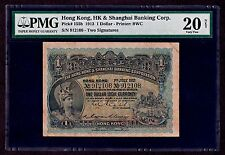 Hong Kong 1 Dollar 1913 P-155b * PMG VF 20 net * Scarce Date *