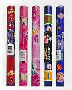 "1-Disney Character® Gift Wrap~12½-sq.ft. (60""x30"")Rolls~"
