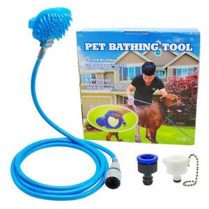 Dog Bath Shower Head Water Sprayer Pet Bathing Hose Tool Hair Washer Cleaning