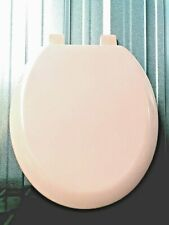 WOODEN TOILET SEAT OVAL BEMIS PASTEL PINK ROSE CLEAN STRONG EASY FITTINGS RETRO