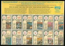 RAA367 Commercial Labels Coupons Poster Stamps MNH USA 70s yrs (part of Sheet)