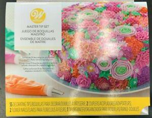 Wilton Master Tip Set 55 Decorating Tips, Couplers, Flower Nails, Tip Organizer