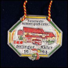 Karnevalsorden | Ittlinger Käfer - Feuerwehr kommt groß raus! | 1994