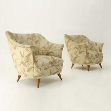 Coppia di poltrone italiane anni 50, mid century armchairs, gio ponti style