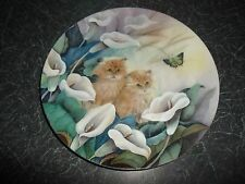 """Decorative Plate """" Alluring Lillies """" by Lily Chang Petal Pals Collection CATS"""