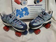 Sketchers 4 Wheelers Sport Tennis Shoes Roller Skates Women's Size 8.5 Blue Red