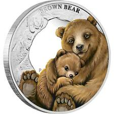 2014 Mother's Love  Brown Bear 1/2oz Silver Proof Coin