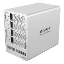 "ORICO SATA USB 3.0 Aluminum 4 Bays 3.5"" Hard Drive Enclosure with Raid Function"