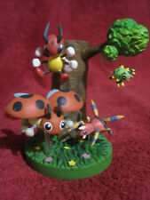Pokemon Zukan-Figure-Set:Ledian+Ledyba+Ariados+Spinarak/gebraucht/Diorama/Yujin