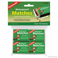 Waterproof Matches, One Pack (4 Boxes) Wooden Fire Starter, Camping #940BP